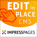 Edit in place with ImpressPages CMS